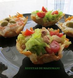 ENSALADAS ORIGINALES Vegetarian Recipes, Cooking Recipes, Healthy Recipes, Reception Food, Finger Foods, Salad Recipes, Food To Make, Brunch, Food And Drink