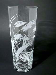 Etch all kinds of glass products with a laser etching machine from Epilog Laser. Painted Glass Vases, Wood Glass, Glass Art, Etching Machine, Glass Engraving, Engraving Ideas, Glass Etching, Pint Glass, Stone