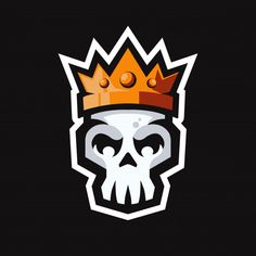 Skull head with king crown mascot logo Premium Vector Skull Head, Skull Art, Sport Logos, Graffiti Doodles, Game Logo Design, Graffiti Characters, Kings Crown, Flash Art, Cool Logo