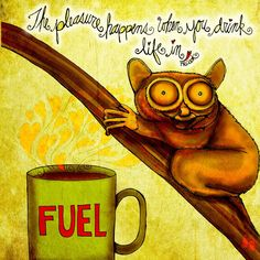 What My Coffee Says, August 25, 2015 - Jennifer Cook (Print)