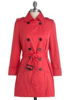 Femme in Fuchsia Coat   Mod Retro Vintage Coats   ModCloth.com - StyleSays