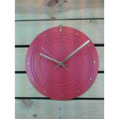 "A traditional clock design made from cast iron.  Cast iron face, hand finished with genuine Farrow & Ball paint. Accurate quartz mechanism. 11 ½"" (29cm) diameter. Brass fittings."