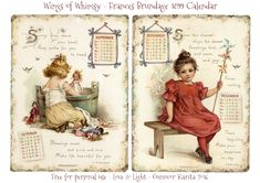 Calendar Sunday – Frances Brundage Girls 1899   Wings of Whimsy