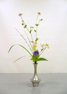 Modern tatehana Ikebana Flower Arrangement, Flower Arrangements, Ancient Art, Japanese Art, Glass Vase, Gallery, Flowers, Modern, Old Art