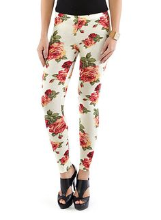 Floral Ankle Length Leggings----- love these soooo much!