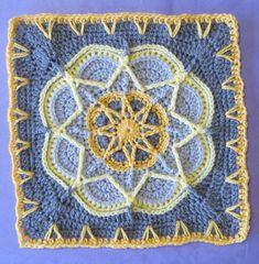 Spiro Star Afghan Motif By Helen Shrimpton - Free Crochet Pattern - (ravelry)
