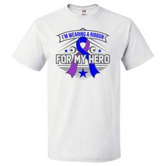 Rheumatoid Arthritis I'm Wearing a Ribbon For My Hero T-Shirt  #RheumatoidArthritisAwareness