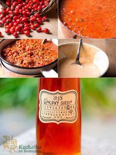 Kuchařka ze Svatojánu: ŠÍPKOVÝ SIRUP Dip Recipes, Sweet Recipes, Vegetarian Recipes Easy, Healthy Recipes, Smoothies, Herbalism, Food And Drink, Yummy Food, Homemade