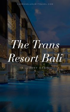 The Trans Resort Bali - A Luxury Hotel Bali Spa, Bali Resort, Luxury Escapes, Great Restaurants, Best Vacations, Luxury Travel, Family Travel, Oasis, Traveling By Yourself