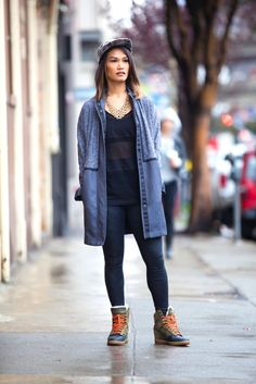 S.F.'s Workout Uniform Looks Like THIS #refinery29  http://www.refinery29.com/san-francisco-workout-style#slide-25  Avant Barre goer Jaimie Villacarlos looks chic in a Lululemon jacket, Lorna Jane top and bottom, Nike shoes, and Publish hat. ...