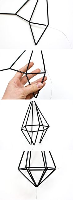 Origami Geometric Diy How To Make 70 Ideas Straw Art, Origami Mobile, Origami Wedding, Creation Couture, How To Make Diy, Geometric Shapes, Diy Art, Diy And Crafts, Christmas Decorations
