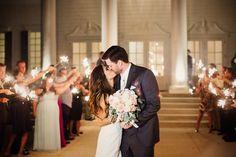 Sparkler Exit | The Milestone Aubrey Mansion | Natalie Gore and James Casey Wedding Day