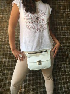 Bolso de Cadera Riñonera Bandolera de diseño: White por CAOMKA