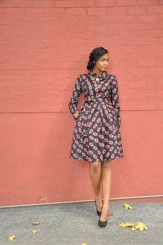 Robe imprimée africain  le manteau Yétundé
