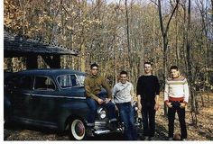 Dad and friends on camping trip - 1950's