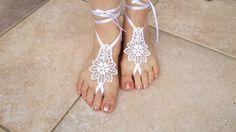 Bridal  Barefoot Sandals Beach Pool Sandals Wedding