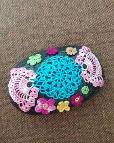 crochet on stone