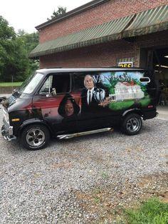 """""""Vantasm"""" custom 70's Dodge van"""