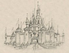 #Disneyland #castle #drawing #inspiration Disneyland Castle, Fairytale Castle, Patterns In Nature, Vintage Disney, Castle Drawing, Urban Sketching, Fantasy Inspiration, Flat Design, Life Is Beautiful