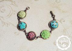 Jacquard vintage style bracelet from GDO by girlsdayout on Etsy, $28.00