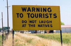 Warning to the tourists! | Memes In Black