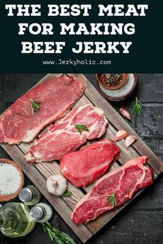 Best Meat for Beef Jerky Making Beef Jerky, Best Beef Jerky, Homemade Beef Jerky, Smoked Beef Jerky, Beef Jerky Marinade, Beef Jerkey, Venison Recipes, Smoker Recipes, Traeger Recipes