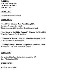 example of film editor resume httpresumesdesigncomexample