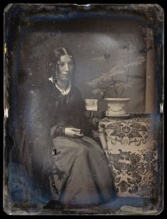 Southworth and Hawes of Boston (Albert Sands Southworth 1811-94 and Josiah Johnson Hawes, 1808-1901): A Daguerreotype (quarter plate) of Harriet Beecher Stowe, c. 1843-45.