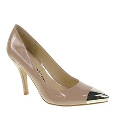 Take a look at this Nude Patent Danger Zone Pump by Chinese Laundry on #zulily today!