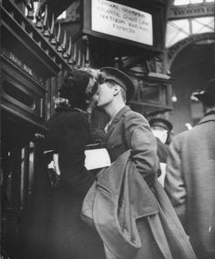 Goodbye Kisses, Pennsylvania Station c. 1944.  Photographs by Alfred Eisenstaedt,