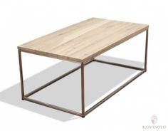 New Amsterdam sofabord (oljet eik/rustfri stål - 110x60)