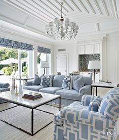 Too much blue but l love the black accents , very modern