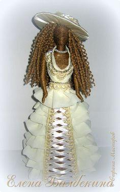 Куклы Моделирование конструирование Кукла невеста Ленты Ткань Шпагат фото 1