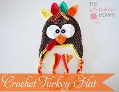 Crochet Turkey Hat Free Pattern - Page 2 of 31 - Free Crochet Patterns Crochet Kids Hats, Crochet Fall, Holiday Crochet, Crochet Beanie, Crochet Crafts, Yarn Crafts, Crochet Projects, Free Crochet, Knit Crochet