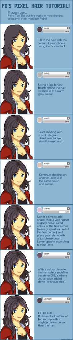 Pixel Shading Hair Tutorial by =FilleDbil on deviantART