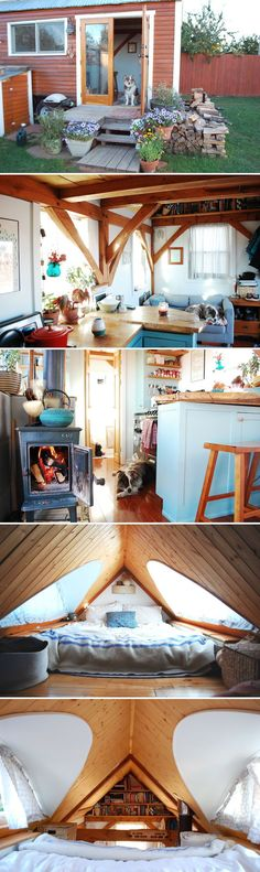 Small Tiny House, Tiny House Cabin, Tiny Cabins, Tiny House Living, Tiny House Design, Tiny House On Wheels, Tiny House Luxury, Tiny House Layout, Shed To Tiny House