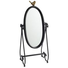 Tabletop Mirror  for an entry way or table by the door for last minute face checks!