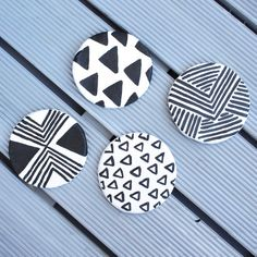Make these geometric coasters out of air dry clay!