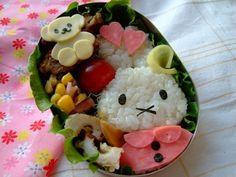 Miffy bento   #food #bento