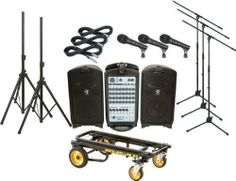 Fender Passport 500 Pro 3 Mic PA Package with Rock N Roller Cart (Standard) by Fender. $1149.99. All-in-one PA system with mics, cables, stands, and convenient equipment transporter.. Save 59%!