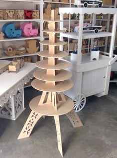 Base Torre Eiffel para cup cakes