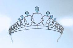 Lotus Tiara, The Netherlands (ca. 2011; made by Steltman; gold, aquamarines, diamonds).