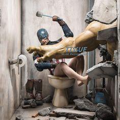 #HULK #Fan #Art. (Hulk and Captain America. Tissue: I WILL GET IT MY SELF THEN!!!) By: Edy Hardjo. ÅWESOMENESS!!!™ ÅÅÅ+