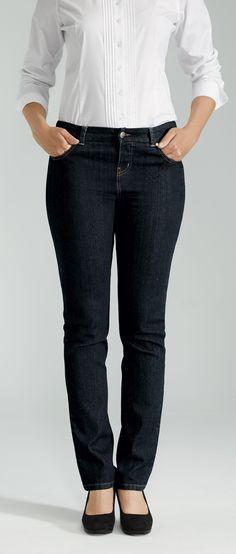 Perfect fit and colour Straight Leg Jean / Denim Outfit, Denim Pants, Blue Jeans, Office Fashion, Women's Fashion, Jean Jean, Jeans Store, Dark Denim, Perfect Fit