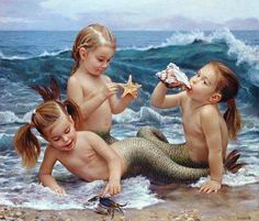 mermaids. @Emily Svenson @Alyssa Panaccione @Cali Steph is it weird this reminds me of us?
