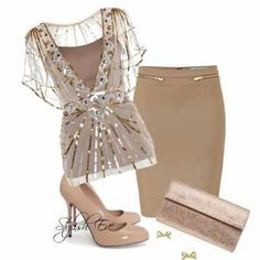 Classy knock out. At Stylish Eve Stylish Eve, Stylish Outfits, Fashion Outfits, Formal Outfits, Stylish Clothes, Casual Clothes, Winter Clothes, Skirt Fashion, Passion For Fashion