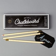 Chalkboard Pencils for paper runners, place cards and more!