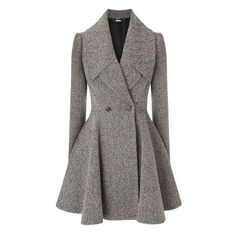 Alexander McQueen Grey herringbone wool blend coat and other apparel, accessories and trends. Browse and shop 21 related looks. Classy Outfits, Chic Outfits, Blazer Outfits, Casual Blazer, Dress Outfits, Hijab Fashion, Fashion Dresses, Fashion Coat, Women's Fashion