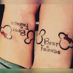 minnie & mickey best friends tattoo