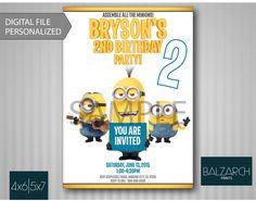 MINIONS INVITATION, Minioins Movie Invitation, Minions Birthday, Minions Birthday Invitation, Minions by Balzarch on Etsy https://www.etsy.com/listing/234858640/minions-invitation-minioins-movie